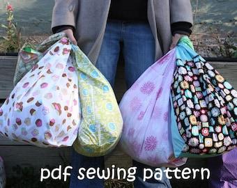 Supermarket checkout bag - PDF sewing pattern