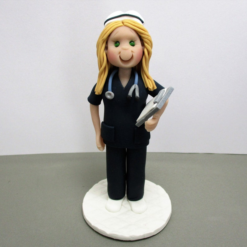 Nurse Personalized Cake Topper Figurine Custom Made To ...