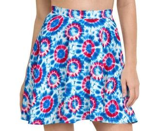 Phish Tie Dye Donut Skater Skirt, Phish Donut Skirt, Phish Tie Dye Skirt, Phish Tie Dye Women, Phish Skirt, Phish Donuts Skirt