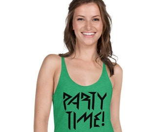Phish Party Time! Women's Racerback Tank Top, Phish Tank Top, Phish Shirt, Phish Tank for Women, Phish Top, Party Time Tank Top, Party Time