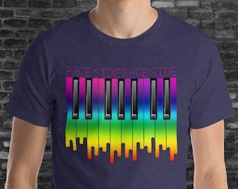 Phish Shirt, Page T-shirt, Page Phish T-shirt, Phish Piano Shirt, Melting Piano Keys, Face Melt into Rock, Face Melting Piano, Unisex