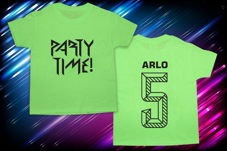 Glow Party T-shirt Party Time Blacklight Party Glow Shirt image 0