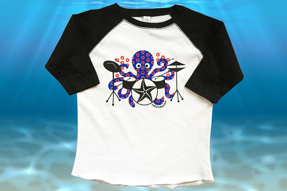 Phish Shirt Octopus Drummer Phish Kids Fishman Print Jon Fishman Phish T-shirt Baseball Shirt Octopus Drummer Fishman Phish Unisex Tshirt