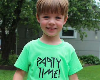 Party Time Shirt, Party Outfit Kids, Neon T-Shirt, Phish Shirt, Phish T-shirt, Phish Kid, Phish Kids, Birthday Shirt, Birthday Party Shirt
