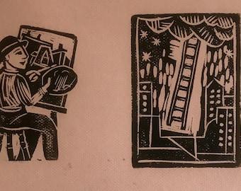 Rick Beerhorst original linocut print