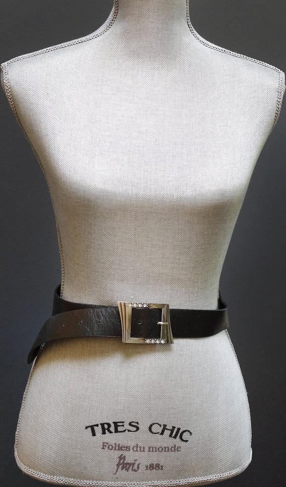 51 3//16in Belt Leather Change Belt Basic Green 33 1//2in