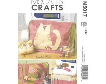 Sewing Machine Cover Organizer Pin Cushion Sewing Pattern McCalls M5017