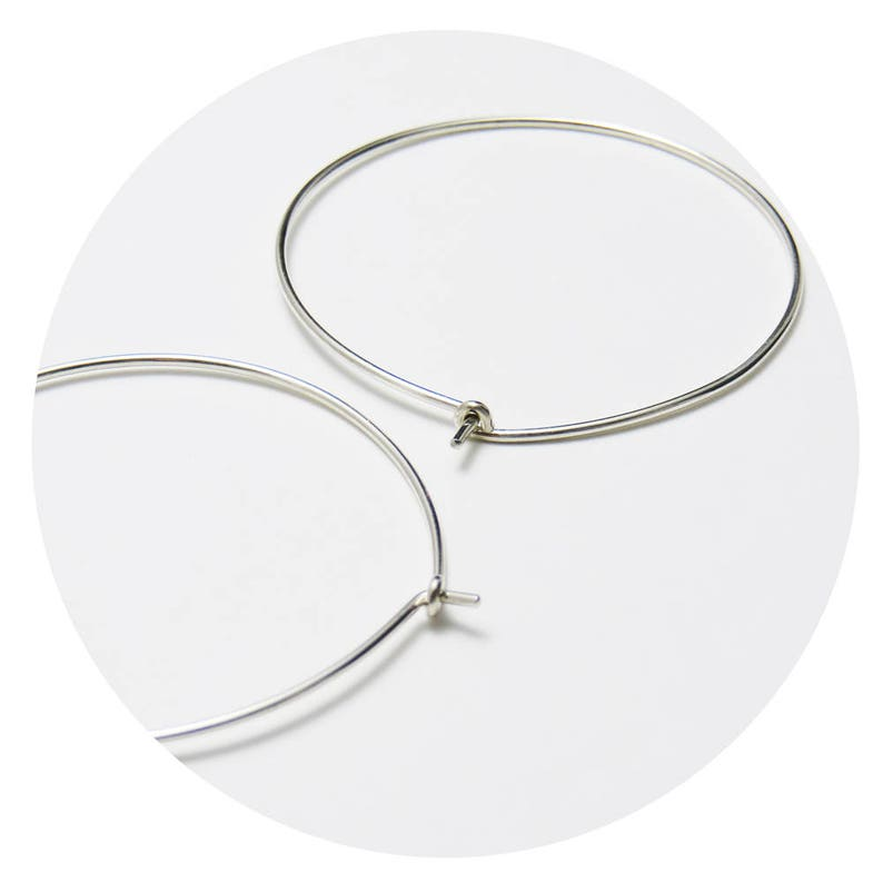 e98ce61e75f65 Superfine Hoops (extra large) | Minimalist Simple Fine Round Hoop Earrings  Handcrafted in Solid Sterling Silver