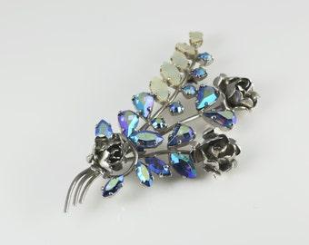 Vintage Flower Brooch, Mother Of Pearl