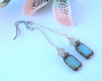 Frosted Earrings - Silver Plated