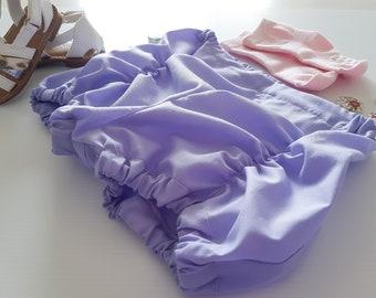 Toddler Pucker Shorts, Girls Purple Shorts, Toddler Lilac Shorts