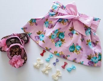 Toddler Skirt, Floral Skirt, Gorls Floral Skirt, Pink Skirt