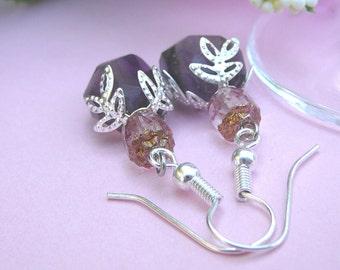 Amethyst Chunks, Earrings