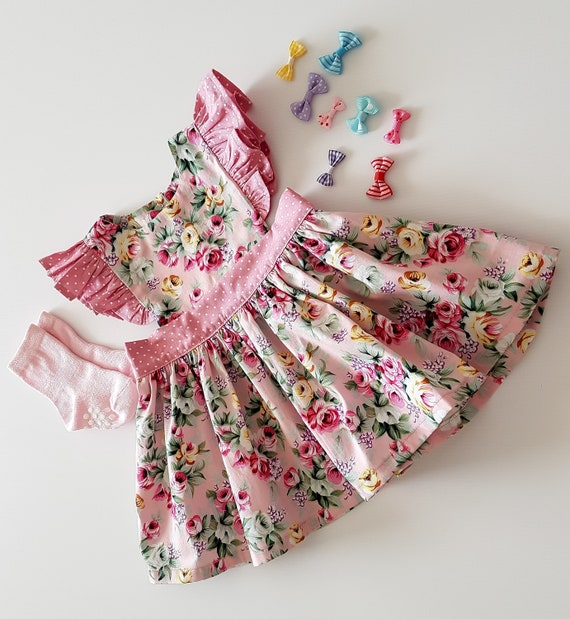 994ee456711 Robe chasuble enfant en bas âge les filles robe chasuble