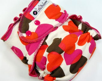 Ready to Ship One Size Cloth Diaper - AI2 WindPro - OS Wind Pro All in Two - Falling Hearts - Heart Cammo - Cloth Nappy Camo