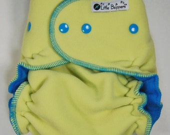 Diaper Cover Made to Order - Wind Pro Fleece - Citron Windpro - You Pick Size - Lemon Lime Yellow - Cloth Diaper Wrap