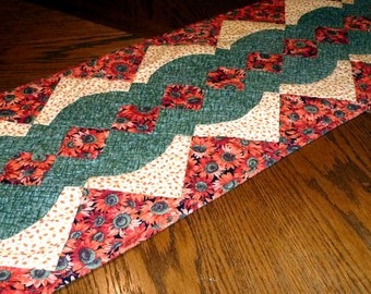 Fall sunflower table runner