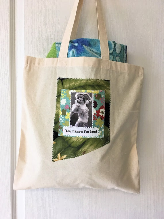 Wise Assery Tote bags Funny Tote Bag Crazy Ladies Exotic Vintage Women Not Quite Right... Beach Bag Wild Women