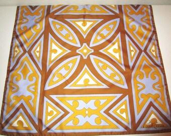 Ponte Tresa Vintage Signature Polyester Scarf ~ 26 x 26