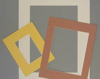 8x10 or smaller custom cut mat for photos or artwork