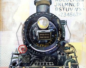 Onward - 12X18 limited edition print of a Train Steam engine