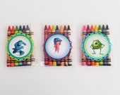 Unicorn Boy Favors  Activity -   Unicorn Boy Birthday Party Themed  8 Pack of Crayola Crayons 3 Bags  Various Colors