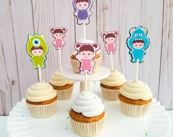 Monsters Inc Boo Baby Cupcake Toppers