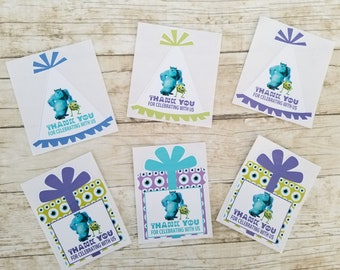 Monsters Inc Party Hat Stickers