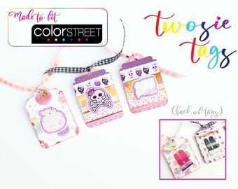 Halloween Twosie Tags - Made for Color Street Twosies - Set of 3