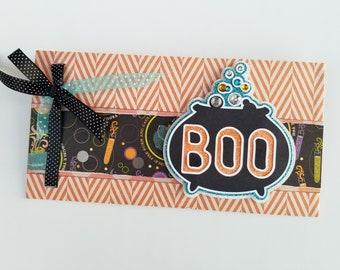 Halloween Gift Envelope - Ideal for Color Street Nail Sets or Cash - Boo Cauldron Design