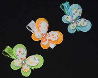 Butterfly Hair Clips Buy 3 Items Get 1 FREE Green Hair Clips Orange Hair Clips Blue Hair Clips Spring Summer Easter Baby Girl Hair Clips