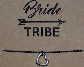 Bride Tribe Bachelorette Wish Bracelet, Bride Tribe, Bachelorette Party Favors, Party Favors, Bridal Shower Favors, Buy 3 Items, Get 1 Free