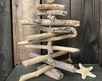 "13"" Driftwood Christmas Tree, Driftwood Beach Decor, Dorm Room, Apartment Decor, Boho Decor, Beach Coastal Wedding Decor, Driftwood Art, AA"
