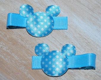 Mickey Mouse Blue Dot Hair Clips - Buy 3 Items, Get 1 Free