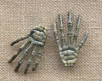 Skeleton Hair Clips, Skeleton Hand Hair Clip Costume Accessories Goth Hair Clips  Halloween Accessories Skeleton Barrette Hair Bow