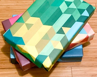 Wrapping Paper -- Set of 3 Sheets of Diamond Pattern Paper
