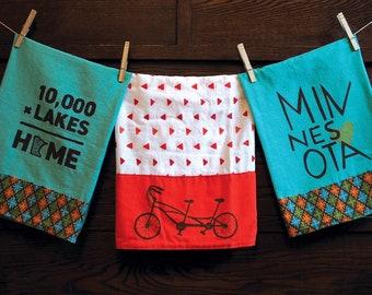 Tandem Bike Tea Towel