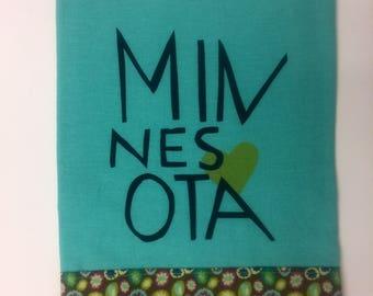 Minnesota love tea towel