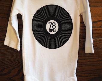 78 RPM onesie