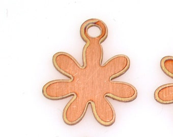 Flower copper blank, 24ga./26ga., copper blank