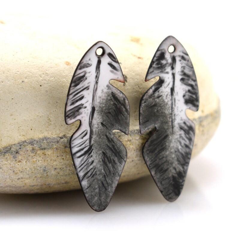 copper jewelry jewelry making pair Enameled copper enameled copper enameled jewelry jewelry component copper earrings boho earrings