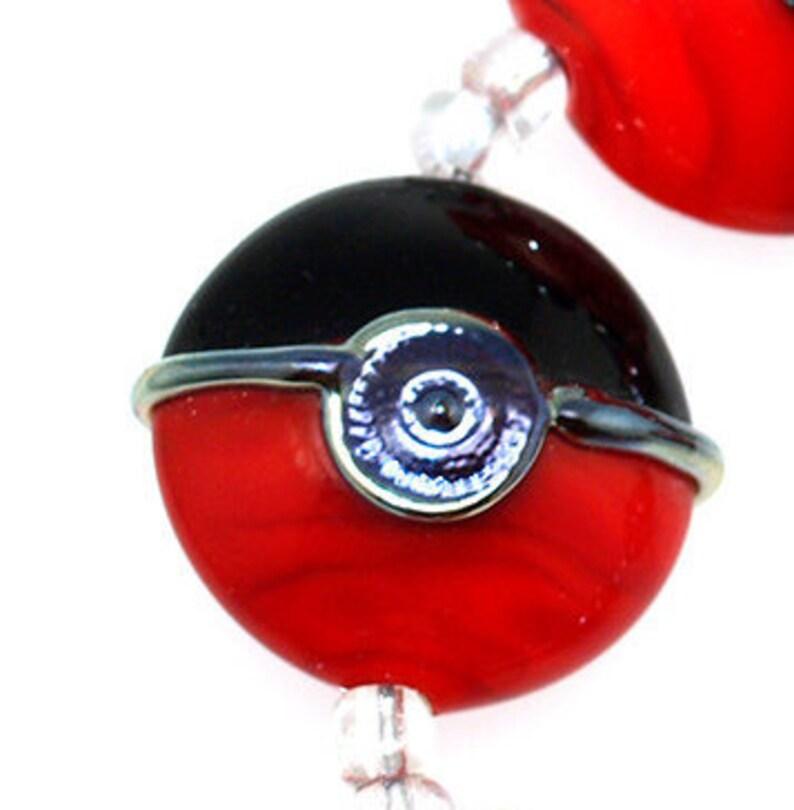 61e0e9e6b7f Bijoux noir et rouge de lentilles le travail manuel perles