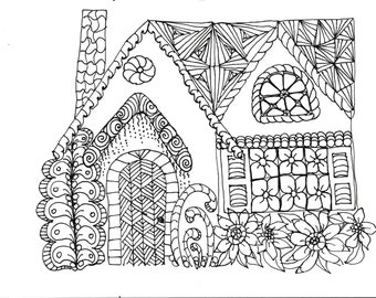 Adult Coloring Pages Flowers Plants Garden | Etsy