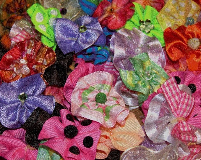 Puppy Dog Bows - Groomer Assortment 12 pairs, 24 bows