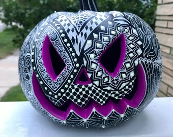 Halloween Decor Light up Pumpkin Jack-o-Lantern, Day of the Dead