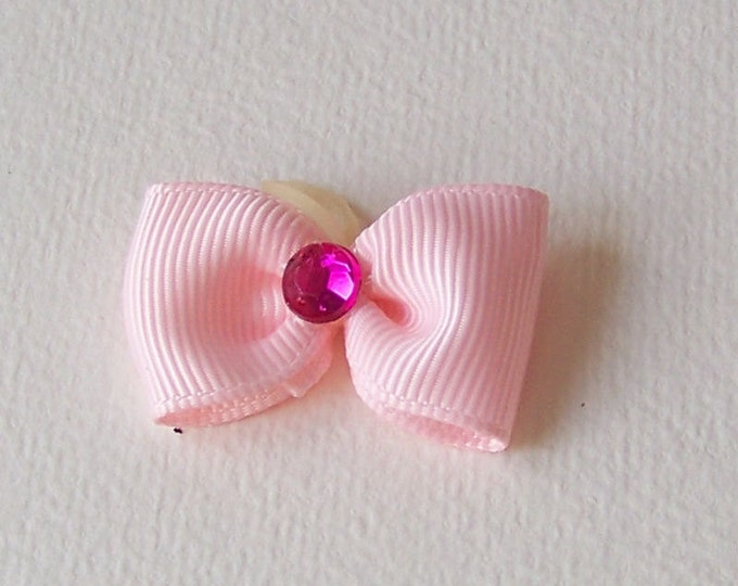 Dog Bows * ALL PINK 10  bows * Top Knot, Single Dog Puppy Grooming Bows