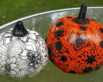 Harvest Fall Halloween Pumpkin Decoration Graphic Floral Designs Set