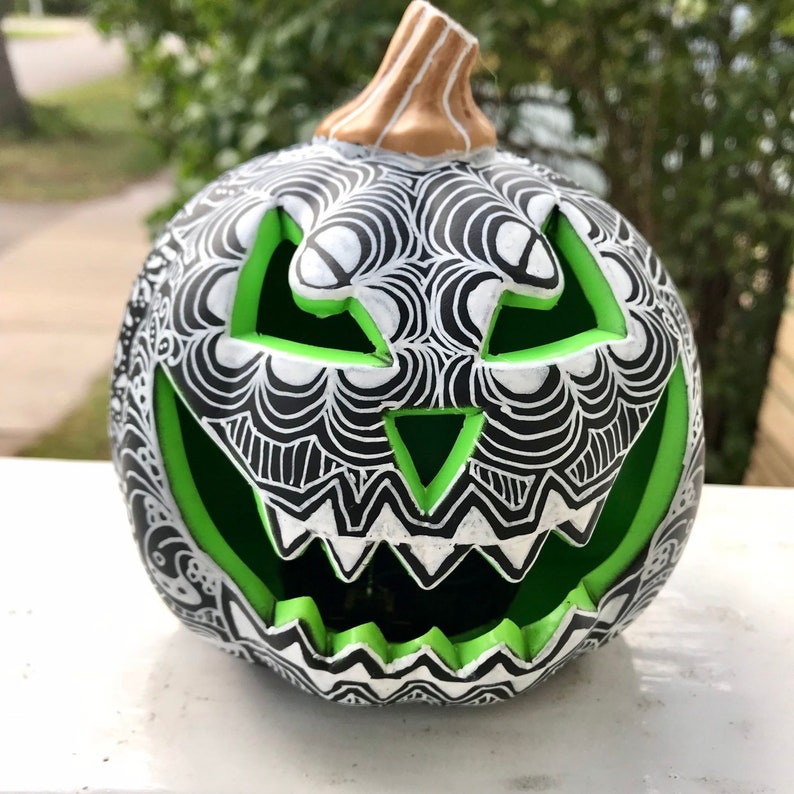Halloween Decor Light up Pumpkin Jack-o-Lantern Day of the image 0