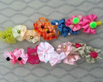 Poodles, Maltese, Shih-Tzu Bows - bright colors no white small & medium