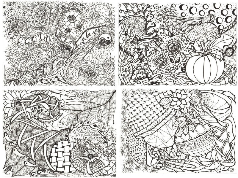 Printable Calendar Coloring Pages Adult Zen Doodles To Color